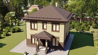 Проект дома 125-B, Площадь дома: 125 м2, Размер дома:  11,9x10,9 м