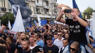 Фенове на Спартак Варна отбелязаха с митинг по улиците на гр.Варна 100 годишния юбилей на клуба