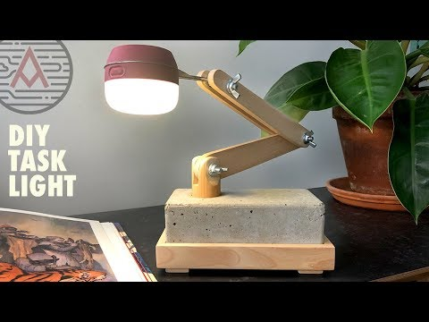 DIY Battery Powered LED Task Light — Design No. 1 — Woodworking