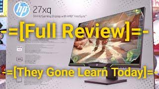 Perfect Gaming 1440p Display HP 27xq 144hz - Full Review