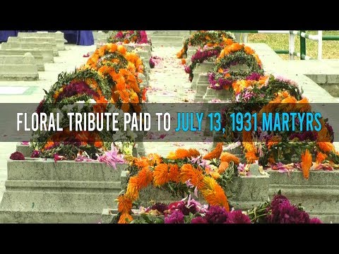 Floral tribute paid to July 13, 1931 martyrs