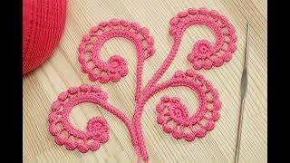 Завиток с пышными столбиками - вязание крючком - мастер класс  crochet