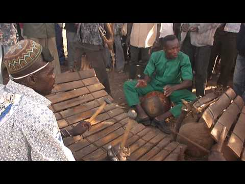 Dagarti funeral, with balafon, in Burkina