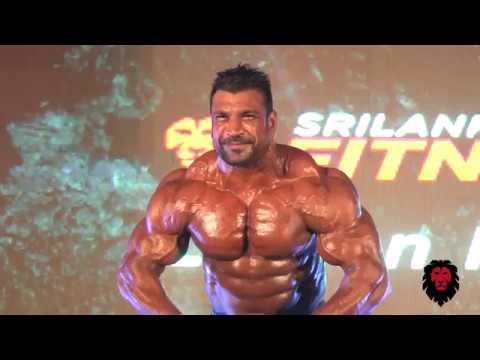 Lucion Pushparaj Live Posing at Sri Lanka Fitness expo 2018 (Fitness island) (HD)