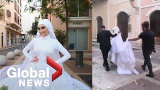 Beirut Explosion: Brides Photoshoot Interrupted By Massive Blast