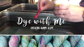 DYE WITH ME! Creating Bunny Slope   Lofty Loops Yarns   Hand Dyed Yarn   Speckled Yarn Dyeing