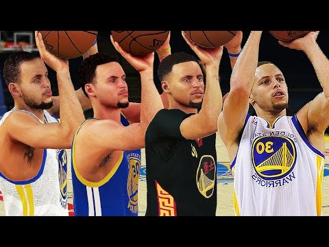 Stephen Curry - 3 Point Rating & Jumpshot Animation (NBA 2K10-NBA 2K17)