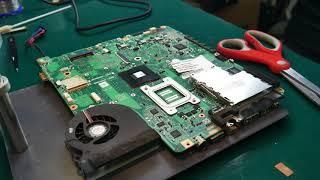Toshiba A300 Wymiana Kondensatora NEC TOKIN
