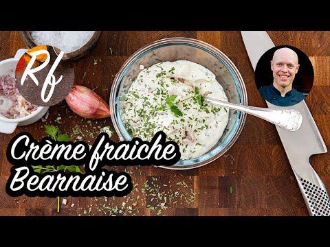 Crème fraiche Bearnaise är en kall lättlagad variant påBearnaiesesås.>