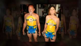2013 Fantasy Fest Photos -  Best Body Painting - Couples Video #1