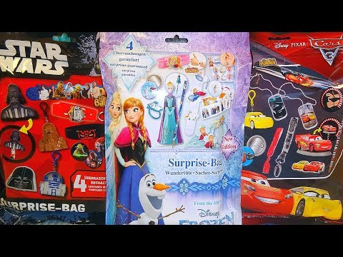 Disney Frozen - Cars 3 & Star Wars Big Surprise Bag 12 Great Toys At Christmas 2018