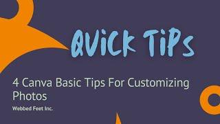 4 Canva Basic Tips For Customizing Photos