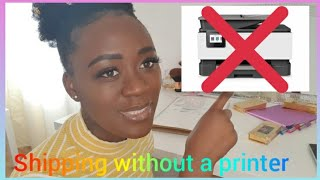 How i package and ship my orders without a printer| Life of an Entreprenure