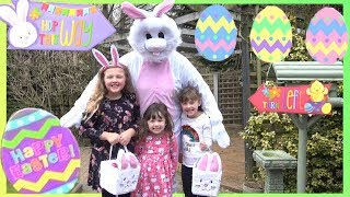 FUN EASTER EGG HUNT With The REAL EASTER BUNNY & Ava Isla Olivia !