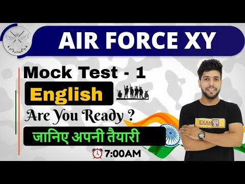 Class -01|| AIR FORCE XY|| Mock Test - 1|| English|| By Anuj Sir