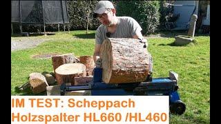 Holzspalter Test: Scheppach HL660 / HL460 - Wie gut ist der Baumarkt Holzspalter in der Praxis?