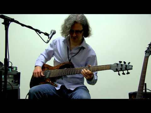 Steve Lawson solo bass cover of Lionel Richie's 'Hello' @ London Bass Guitar Show 2012