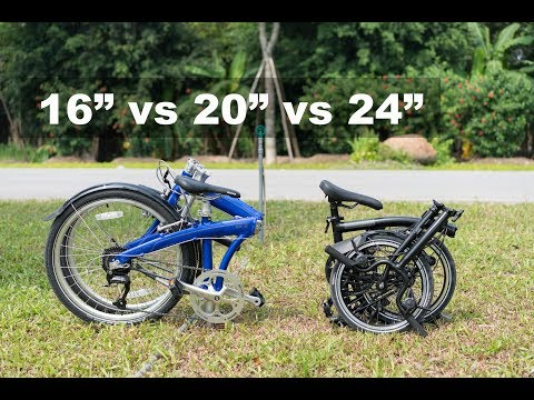 Folding Bike Wheel Size – 16-inch vs 20-inch vs 24-inch Comparison