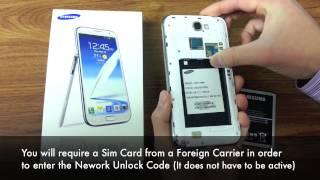 Unlock Galaxy Note 2 II - How to Unlock Samsung Galaxy Note 2 I317, T889, N7100 by Unlock Code