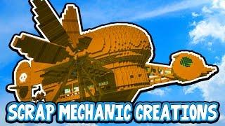 Scrap Mechanic CREATIONS! - AMAZING FLYING MACHINE!! [#13] W/AshDubh | Gameplay |