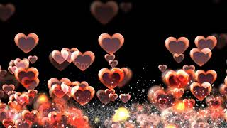 love background hearts | Romantic love heart wedding animated background hd | Royalty Free Footages