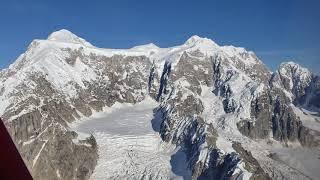 Mt.Denali Alaska - Plane flight with Warren Zevon songs as soundtrack - Sep 13 2018