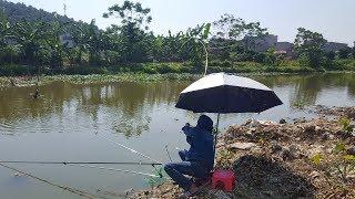 câu cá sông gặp phải hàng khủng  lôi đứt cước