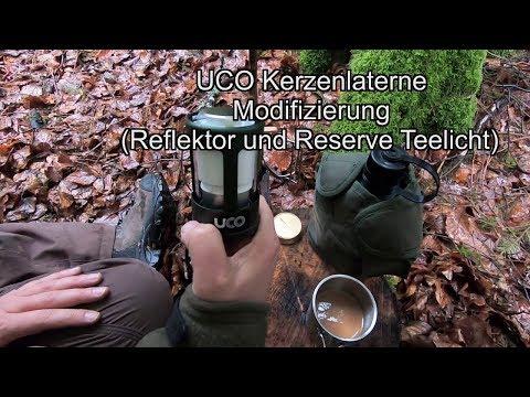 UCO Kerzenlaterne Modifizierung (Reflektor und Reserve Teelicht)