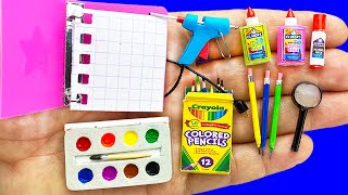11 DIY MINIATURE STATIONERY REALISTIC HACKS AND CRAFTS !!!