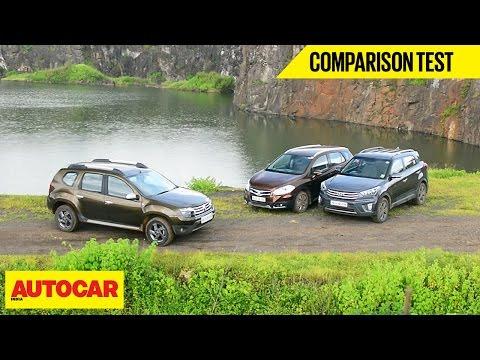 Hyundai Creta VS Maruti S Cross VS Renault Duster | Comparison Test  Autocar India
