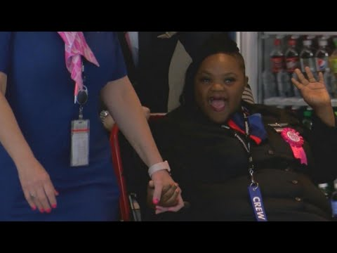 Special Needs Teen Becomes Flight Attendant