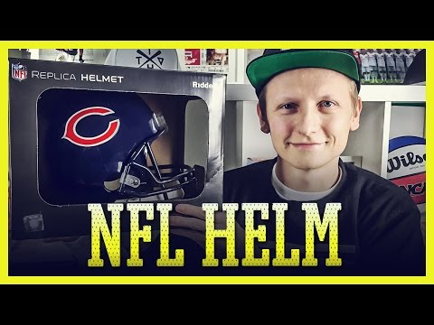 NFL Replica Helm REVIEW | Chicago Bears | Riddell Replica Helm Full-Size (Deutsch) // Tomy Hawk TV