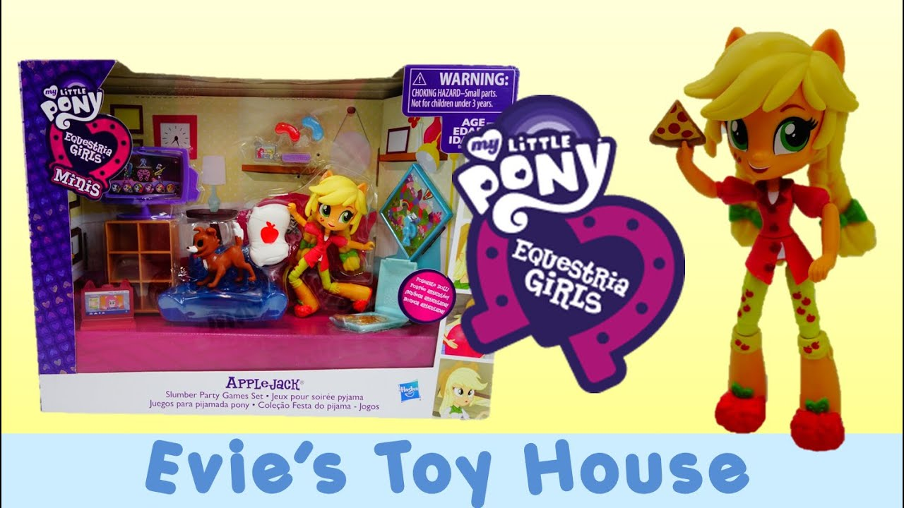 MLP Equestria Girls Minis Unboxing - Pinkie Pie's Slumber Party Applejack | Evies Toy House