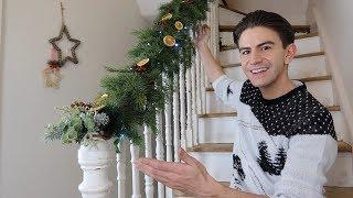 HOW TO MAKE A CHRISTMAS GARLAND FOR STAIRCASE | CHRISTMAS GARLAND UK DIY