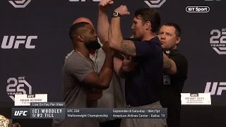 Epic first encounter! Woodley vs Till press conference hightlights