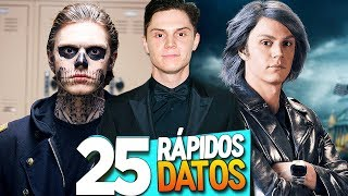 25 CURIOSIDADES De EVAN PETERS (AHS/X-MEN)