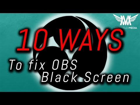 How to fix obs game capture black screen error