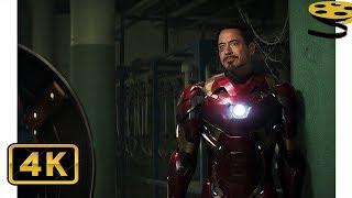 Тони Старк встречается со Стивом и Баки   Первый мститель: Противостояние   4K ULTRA HD