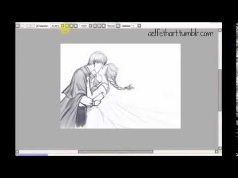 jack frost and elsa first kiss by aelfetch pencil sketch
