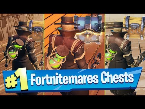 Search a chest in a Haunted forest, a Ghost Town, and a Spooky Farm Locations - Fortnite Challenge