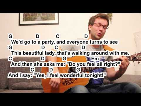 Eric Clapton Wonderful tonight (Cover) small easy Guitar Lesson Tutorial (How to play)