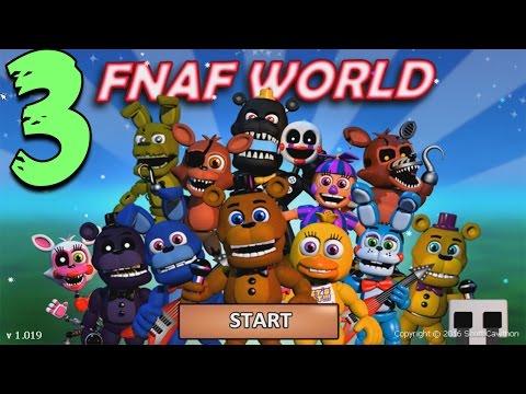 FNAF WORLD ПРОХОЖДЕНИЕ - ОГРОМНЫЙ БОСС #3