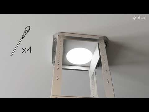 Elica Telescopic Hood GLIDE-LED-60 - Stainless Steel / Glass Video 2