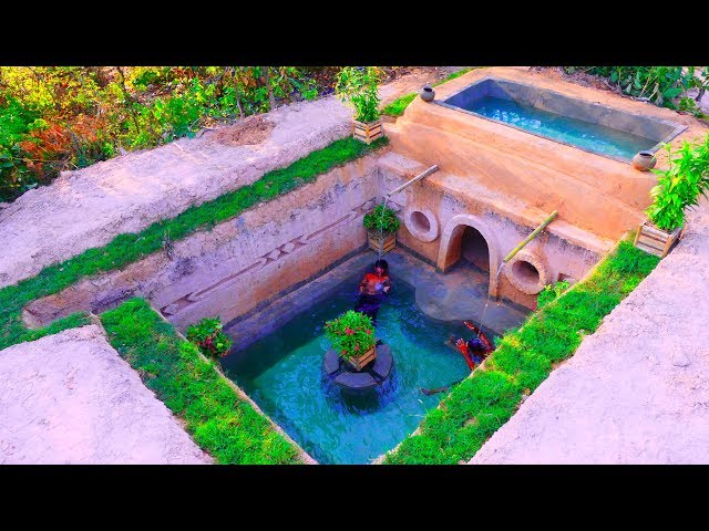 Build Best Swimming Pool With The Most Secret Ancient Underground Temple