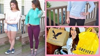 Spring Haul 2014! Forever 21, American Eagle Outfitters, TJ Maxx, Burlington | Kayleigh Noelle ♥