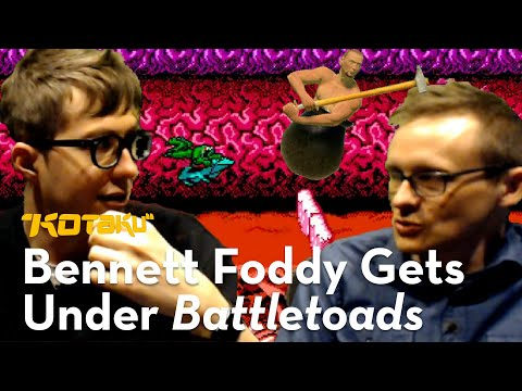 I Made Getting Over It's Bennett Foddy Play The Hardest Level Of Battletoads, Because He Deserved It