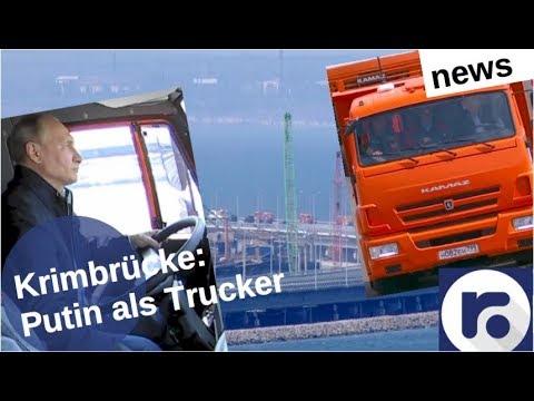 Krimbrücke: Putin als Trucker [Video]