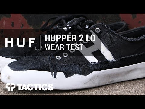 HUF Hupper 2 Lo Skate Shoes Wear Test Review - Tactics.com