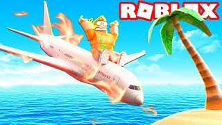 PLANE CRASH INTO VIP ISLAND (Roblox Survive a Crash)