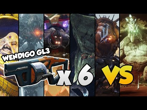 WENDIGO GL3 VS ALL RAID BOSSES!! [Destiny 2]